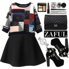 Zaful by oshint on Polyvore featuring moda, MSGM, Jeffrey Campbell, Marc by Marc Jacobs, Bobbi Brown Cosmetics, NARS Cosmetics and zaful