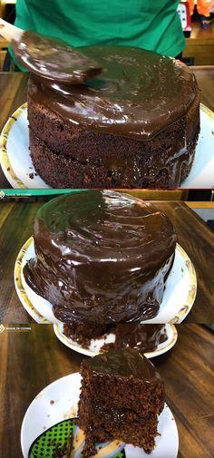 Bolo De Chocolate Recheado Simples Facil E Rapido Hoje E Dia De