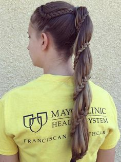 ponytail with a braid around