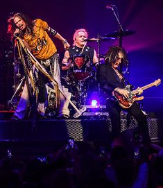 """Aerosmith Launches New Las Vegas Residency """"Aerosmith: Deuces Are Wild"""" for a Sold-Out Crowd at Park Theater at Park MGM April 6 Билеты на концерт Aerosmith в Москве Best Rock Bands, Rock And Roll Bands, Rock N Roll, Steven Tyler, Aerosmith Concert, Joe Perry, Stevie Ray Vaughan, Band Photos, Rock Legends"""