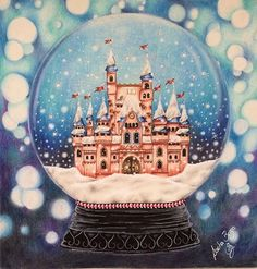 Johanna's Christmas Coloring Book- Castle in the Snow Globe