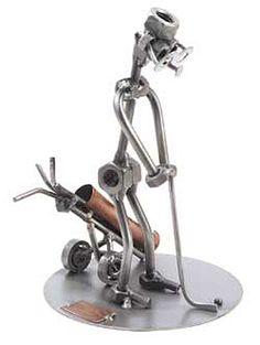 nuts+and+bolts+metal+art | GOLF PUTTER' METAL SCULPTURE Ref: HK283