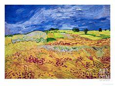 The Plain at Auvers, c.1890 Giclee Print by Vincent van Gogh at Art.com