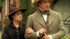 Brian Protheroe as Mr. Bell and Daniela Denby-Ashe as Margaret Hale in BBC's North & South.