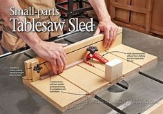 #346 Small Parts Table Saw Sled Plans