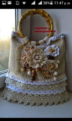 Messenger Bag Backpack, Lace Bag, Denim Tote Bags, Boho Bags, Handmade Purses, Crochet Handbags, Crochet Bags, Jute Bags, Bag Patterns To Sew