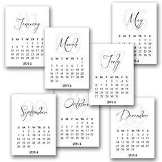 2014 Printable Calendar - Findingnana