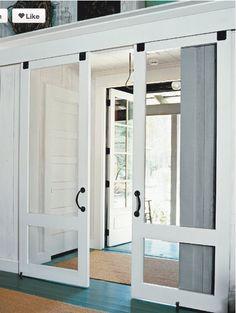 Love sliding french doors :)