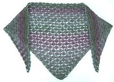 Ravelry: Triangular shawl in crochet/Virkad trekantsschal pattern by Ulrika Andersson