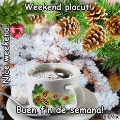 un petit café? Merry Christmas And Happy New Year, Christmas Greetings, Christmas Time, Coffee Gif, Coffee Images, Good Morning Tuesday, Good Morning Coffee, Happy Day Gif, Snow Gif