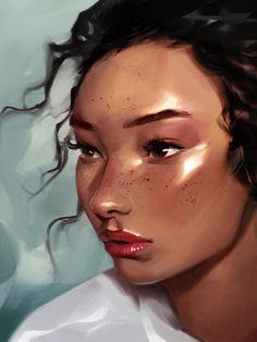 """""""Ashley Moore"""" - Process and Step-by-step Swipe through to see this painting at its different stages. Do you have any other paintings you'd… Ios, Android, Glamour Shots, Animation, Beauty Shots, Photoshop Brushes, Photo Effects, Painting Techniques, Rendering Techniques"""