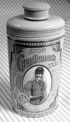 Vintage AVON Gentlemen's Talc 3.75 Full Tin Can Talcum Powder Men Collectible