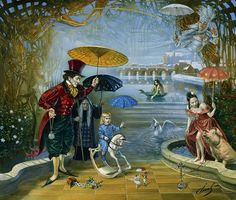 Dream Flood in Fairyland by Michael Cheval