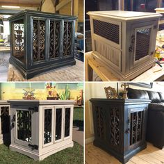 Custom dog kennels / solid wood / handcrafted www.facebook.com/inthedoghousekenneldesigns #DogCrates