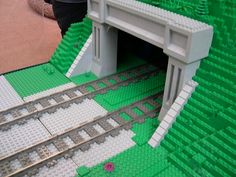 Lego Bridge, Lego Hospital, Lego Track, Lego City Train, Lego Minifigure Display, Lego Winter, Lego Christmas, Christmas Ideas, Lego Wall