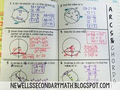 Arcs and Chords   Mrs. Newell's Math