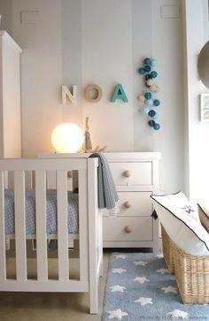 Washable rug Stars Blue-White Lorena Canals #washablerugs #rugs #rug #kidsdecoration
