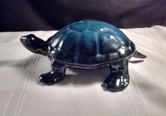 RARE BLUE MOUNTAIN POTTERY LARGE BLUE TURTLE Blue Mountain, Cool Things To Buy, Stuff To Buy, All Pictures, Turtles, Blue Green, Canada, Pottery, Ceramics