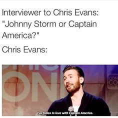 I have also fallen in love with Captain America!!