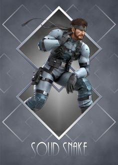 Art Deco Solid Snake poster by from collection. Nintendo Characters, Video Game Characters, Art Deco Posters, Poster Prints, Super Smash Bros Melee, Star Fox, Metal Gear Solid, Fire Emblem, Gemini