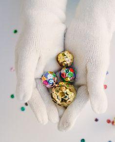 DIY Mini Disco Balls...cute!