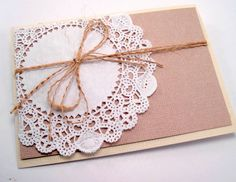 country chic all occasion blank inside hand made cards