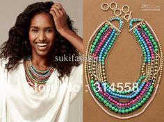 Multi Layer Statement Necklace, Colorful Semi Precious Stone Multi Layer Folk Style Necklace From Sukifashion, $36.92   Dhgate.Com