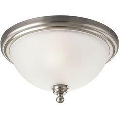 Progress Lighting P3312-09 Madison 2 Light Flush Mount Ceiling Fixture in Brushed Nickel