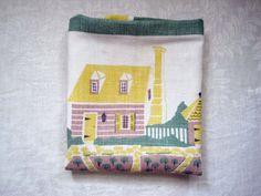Vintage SOUVENIR Tea Towel Herb Garden in by SharetheLoveVintage, $15.00