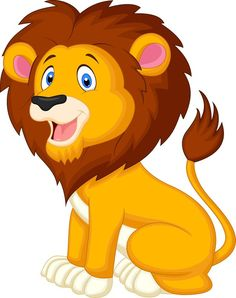 Cute lion cartoon Wall Mural ✓ Easy Installation ✓ 365 Days to Return ✓ Browse other patterns from this collection! Lion Cartoon Drawing, Cartoon Lion, Cartoon Wall, Cartoon Drawings, Animal Drawings, Cute Cartoon, Cartoon Photo, Simple Cartoon, Jungle Animals