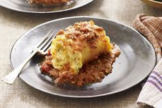 This baked pasta dish is a fun twist on lasagna. Traditional ingredients, such as ground beef, pasta sauce and creamy cheese, get wrapped up in lasagna noodles and baked until bubbly. Kraft Recipes, Casserole Recipes, Pasta Recipes, Dinner Recipes, Lasagna Recipes, Yummy Recipes, Dinner Ideas, Pasta Dishes, Food Dishes