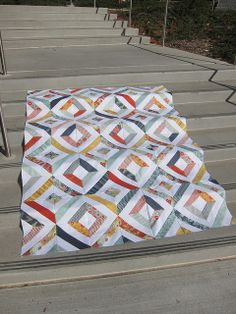 Summer in the Park quilt top by Everyday Fray, via Flickr