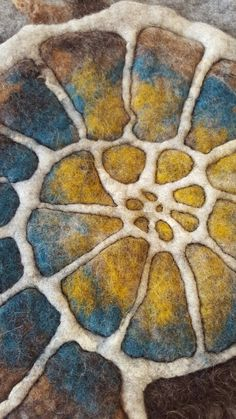 felted ammonite by Brita Stein