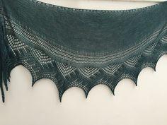 Crystal Bay Shawlette by Romi, Posh Yarn Gretchen Heavy Laceweight Crystals, Knitting, Tricot, Cast On Knitting, Stricken, Weaving, Crystal, Knits, Yarns
