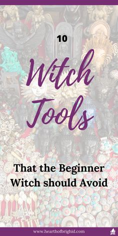 Are you fed up of reading lists of essential tools for the #beginnerwitch which add up to £100s of pounds?  Are you totally lost and overwhelmed about what you actually need to get started with witchcraft and magic?  Don't worry! I have you covered. Click through to read about 10 tools you actually don't need! And Actually you should avoid in the beginning. As a bonus I've added 5 I think are worth the investment but are still not essential!   #witchcraft is free!