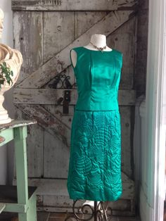 1960s emerald green cocktail dress 60s 3 piece set by melsvanity