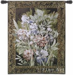 Irises And Peonies Wall Tapestry
