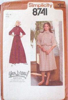 Yes I Can Learn To Sew Beginner's Dress Pattern  by Shelleyville