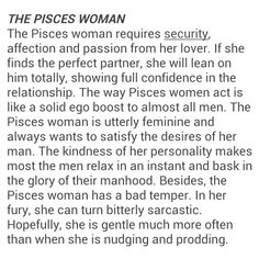 The Pisces woman requires security, affection and passion from her partner. Pisces Traits, Pisces And Aquarius, Astrology Pisces, Pisces Quotes, Zodiac Signs Pisces, Pisces Woman, Zodiac Facts, Me Quotes, Strong Quotes