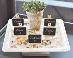 12 Framed CHALKBOARD Place Cards Wedding Decoration Candy Buffet Sign Table