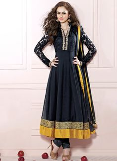 Regal Black Georgette Anarkali Suit