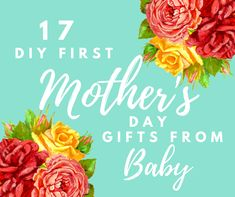 Check out these easy, homemade gift ideas for mom or grandma! These cute ideas can be from a boy baby or girl baby.