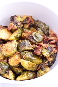 Oven Roasted Brussel Sprouts and Smokey Bacon