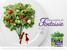 Case:Florette 調味料、具材、その形状、盛りつけ、お皿。様々な要素を組み合わせてアレンジできる料理はとてもクリエイティブなものです。  そんな料理の創造性を広告ビジュアルとして巧みに