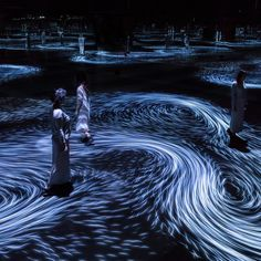 Moving Creates Vortices and Vortices Create Movement, Interactive digital projection, (duration variable). National Gallery of Victoria, Melbourne. Water Projection, Projection Installation, Digital Projection, Interactive Installation, Digital Ocean, Mirror Room, Colossal Art, Water Art, Event Themes