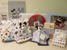 Luvable Friends Printed Fleece Blanket Birds Mickey Mouse Nurserymickey