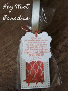 Wedding Favors  Key West Paradise Luggage Tag by mrandmrsfavors, $6.75