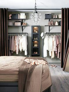 We shares a collection of small walk in closet designs to organize your master bedroom, bring comfort and luxury into your home. There are few things more luxurious, attractive and stylish than a walk in closet in your master bedroom where you can organize handbags, clothes, shoes and accessories in elegant