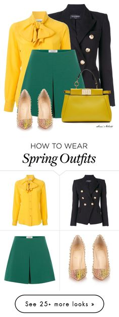 """""""Dressy Shorts for Spring 2"""" by sonies-world on Polyvore featuring Balmain, Moschino, Valentino, Christian Louboutin and Fendi"""