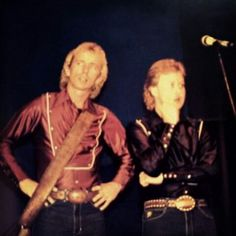 Gary and Jamie Haage at Wilkinson Brothers Show in the 1980's ❤❤❤❤❤❤